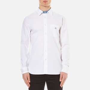 Vivienne Westwood Anglomania Men's Detachable Details Shirt - White Chambray