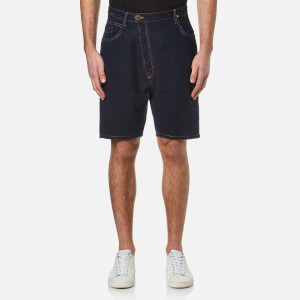 Vivienne Westwood Anglomania Men's Shady Asymmetric Shorts - Blue Denim