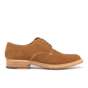 Grenson Men's Finlay Suede Derby Shoes - Snuff