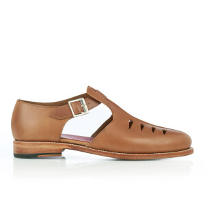 Grenson Men's Rafferty Leather Buckled Shoes - Natural