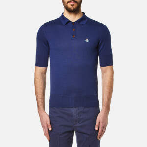 Vivienne Westwood MAN Men's Classic Knitted Polo Shirt - Blue
