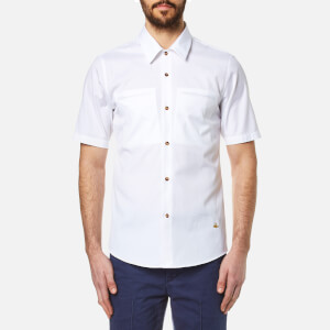 Vivienne Westwood MAN Men's Classic Oxford Short Sleeve Shirt - White