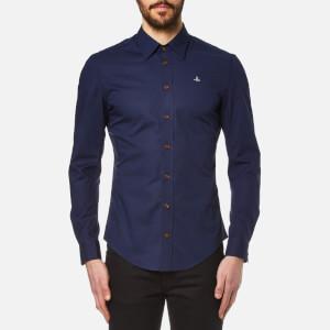 Vivienne Westwood MAN Men's Stretch Poplin Long Sleeve Shirt - Navy