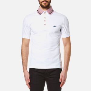 Vivienne Westwood MAN Men's Classic Krall Piquet Polo Shirt - White
