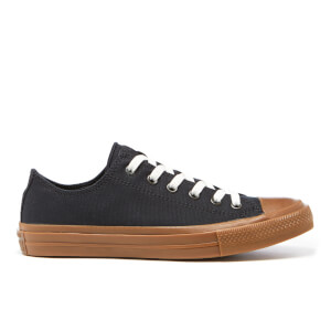 Converse Men's Chuck Taylor All Star II Ox Trainers - Black/Gum