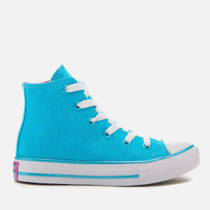 Converse Kids' Chuck Taylor All Star Hi-Top Trainers - Fresh Cyan/Magenta Glow/White