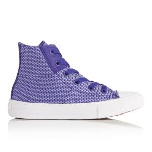 Converse Kids' Chuck Taylor All Star II Hi-Top Trainers - True Indigo/Blue Granite/White