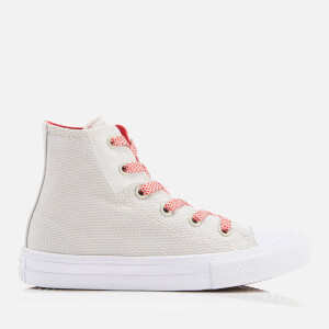 Converse Kids' Chuck Taylor All Star II Hi-Top Trainers - Buff/White/Ultra Red