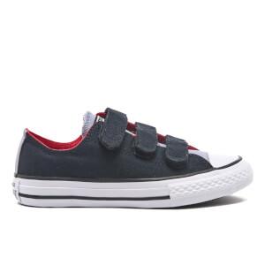 Converse Kids' Chuck Taylor All Star II 3V Ox Trainers - Black/Blue Granite/White