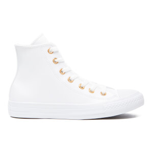 Converse Women's Chuck Taylor All Star Hi-Top Trainers - White/Gold
