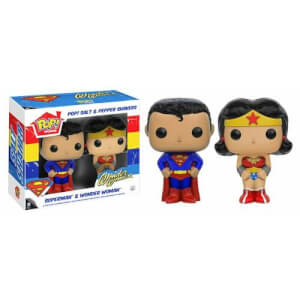 Funko Superman & Wonder Woman Salt & Pepper Shaker Pop! Home