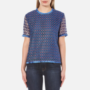 Sportmax Code Women's Valreas Lace Top - Bordeaux