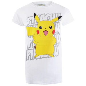 Pokemon Women's Pikachu Victory T-Shirt - White