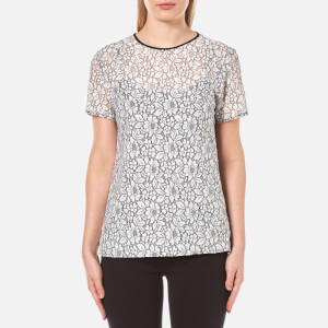 MICHAEL MICHAEL KORS Women's Lace T-Shirt - White