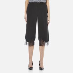 MICHAEL MICHAEL KORS Women's Lace Combo Gaucho Trousers - Black