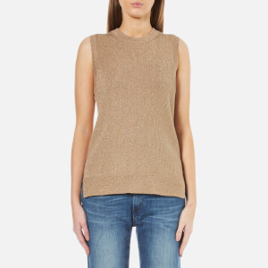 MICHAEL MICHAEL KORS Women's Metallic Sleeveless Jumper - Dark Camel