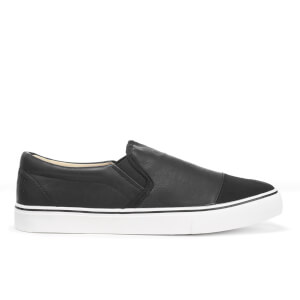 Brave Soul Men's Crasher PU Slip On Shoes - Black