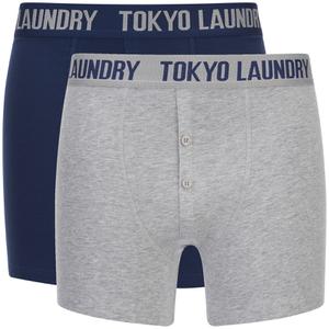 Lot de 2 Boxers Eversholt Tokyo Laundry - Gris / Marine
