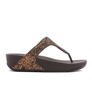 FitFlop Women's Glitterball Toe-Post Sandals - Bronze