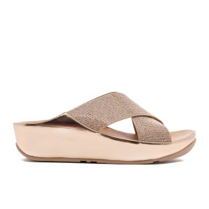 FitFlop Women's Crystall Slide Sandals - Rose Gold