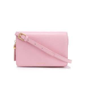 Lulu Guinness Women's Rene Grainy Leather Cross Body Bag - Rose Pink