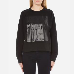 Polo Ralph Lauren Women's Crew Neck Modern Fleece - Polo Black
