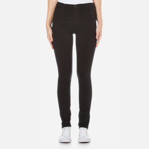 J Brand Maria High Rise Skinny Jeans - Seriously Black