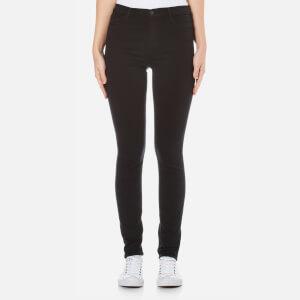 J Brand Maria High Rise Skinny Jeans - Seriously Black