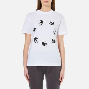 McQ Alexander McQueen Women's Classic Circle Swallow T-Shirt - Optic White