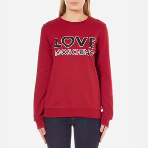 Love Moschino Women's Love Logo Sweatshirt - Red