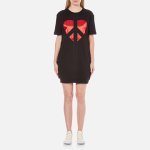 Love Moschino Women's Peace Heart Sweatshirt Dress - Black