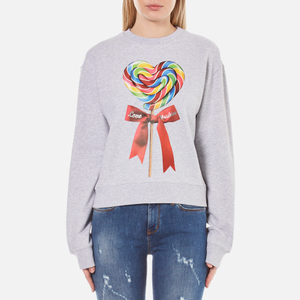 Love Moschino Women's Candy Bow Sweatshirt - Melange Grey