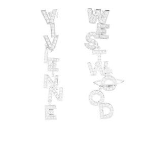 Vivienne Westwood Women's Soho Large Earrings - Rhodium