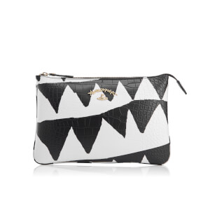 Vivienne Westwood Women's Anglomania Bristol Printed Leather Zip Clutch Bag - White Triangle
