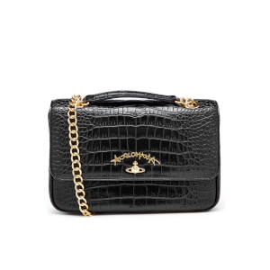 Vivienne Westwood Women's Anglomania Dorset Croc Shoulder Bag - Black