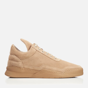 Filling Pieces Men's Ghost Suede Tonal Low Top Trainers - Sand