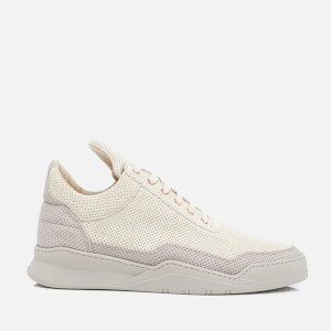 Filling Pieces Men's Ghost Perforated Suede Low Top Trainers - Grey
