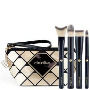 Mirenesse Diamond Luxury Pro Brush 4 Piece Kit - Vegan