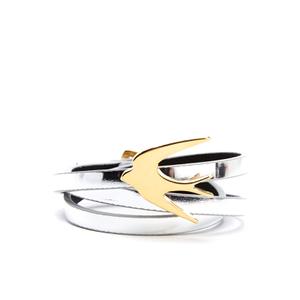 McQ Alexander McQueen Women's Swallow Mini Wrap - Silver