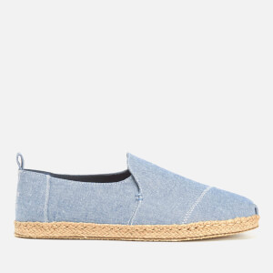 TOMS Men's Deconstructed Alpargata Espadrille Slip-On Pumps - Cornflower Blue Slub Chambray