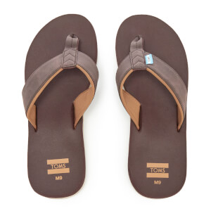 TOMS Men's Carilo Flip Flops - Chocolate Brown