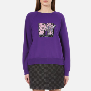 Marc Jacobs Women's MTV Raglan Sweatshirt - Purple