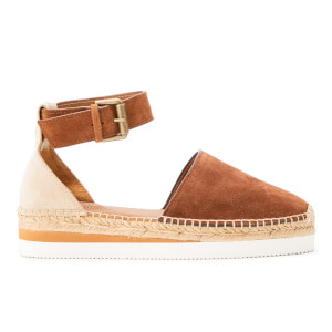 See By Chloé Women's Leather Espadrille Sandals - Suola Tan