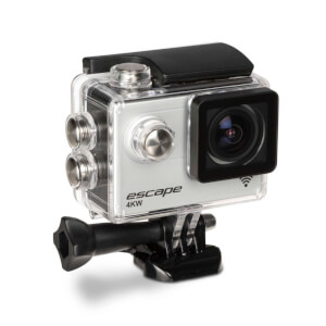Kitvision Escape Waterproof Wi-Fi 4K Action Camera with Mounting Accessories - Silver