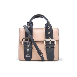 Vivienne Westwood Women's Alex Double Buckle Strap Handbag - Nude