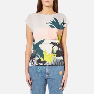 PS by Paul Smith Women's Paul's Photo Top Cut Up Cactus - White