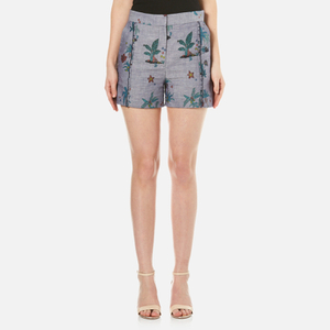 PS by Paul Smith Women's Chambray Shorts - Blue
