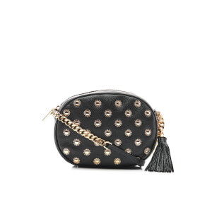 MICHAEL MICHAEL KORS Women's Ginny Studded Mid Messenger Bag - Black