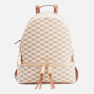 MICHAEL MICHAEL KORS Women's Rhea Zip Logo Backpack - Natural/Luggage