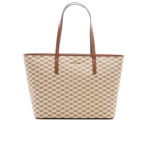 MICHAEL MICHAEL KORS Women's Emry Large Top Zip Tote Bag - Natural/Luggage